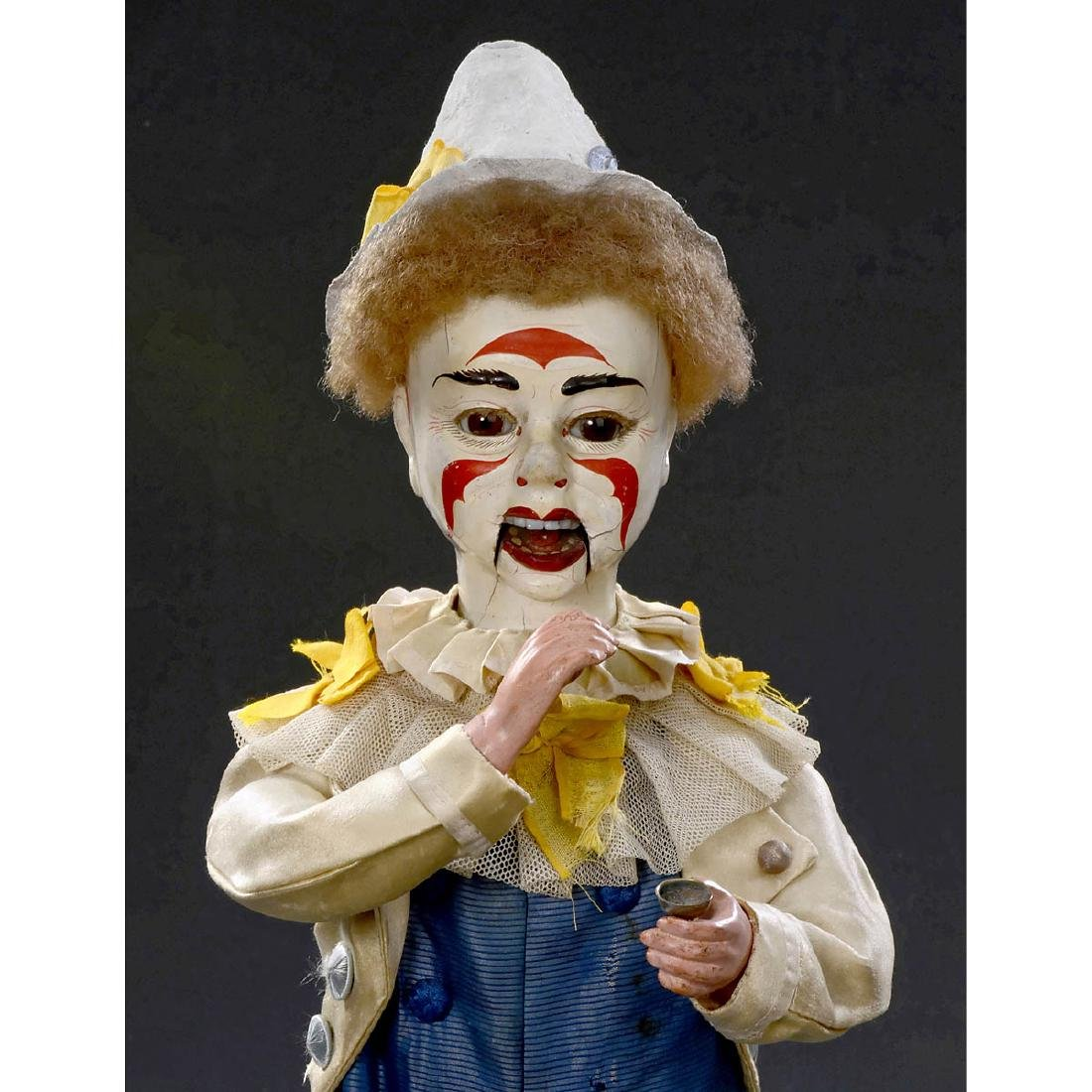 Musical Automaton Clown Taking Snuff by Adolph Müller,