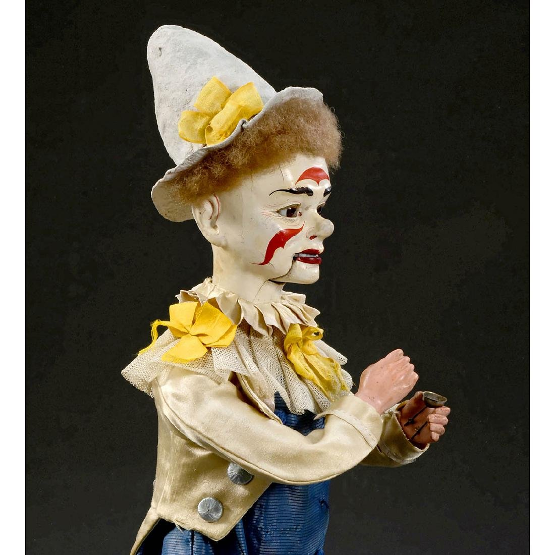 Musical Automaton Clown Taking Snuff by Adolph Müller, - 3