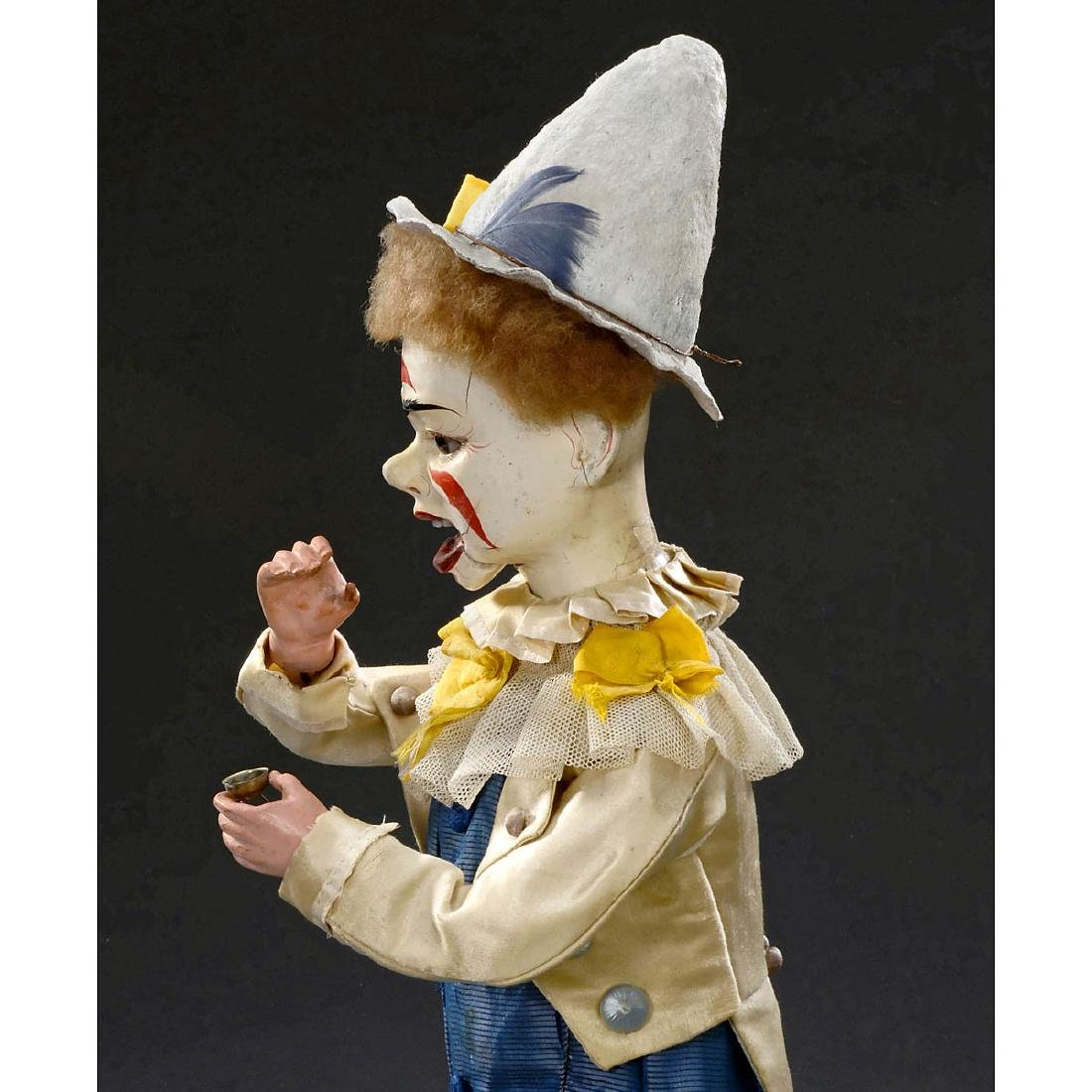 Musical Automaton Clown Taking Snuff by Adolph Müller, - 4