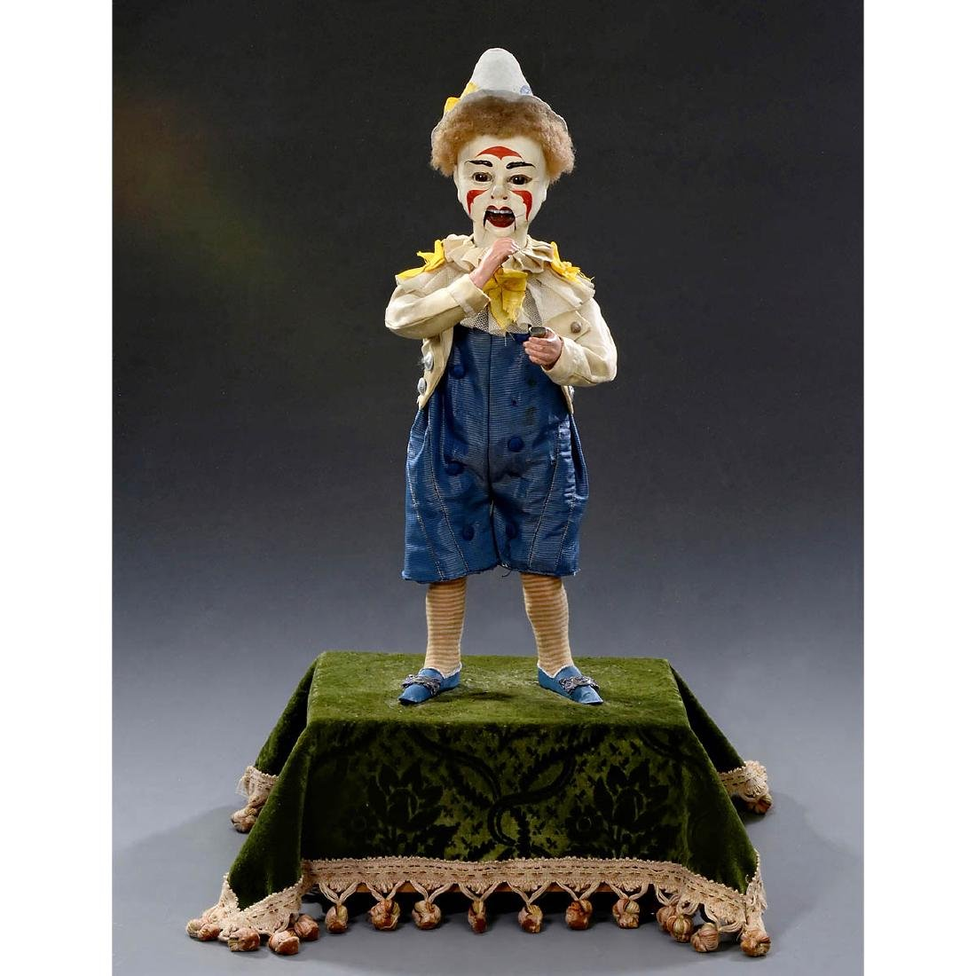 Musical Automaton Clown Taking Snuff by Adolph Müller, - 5