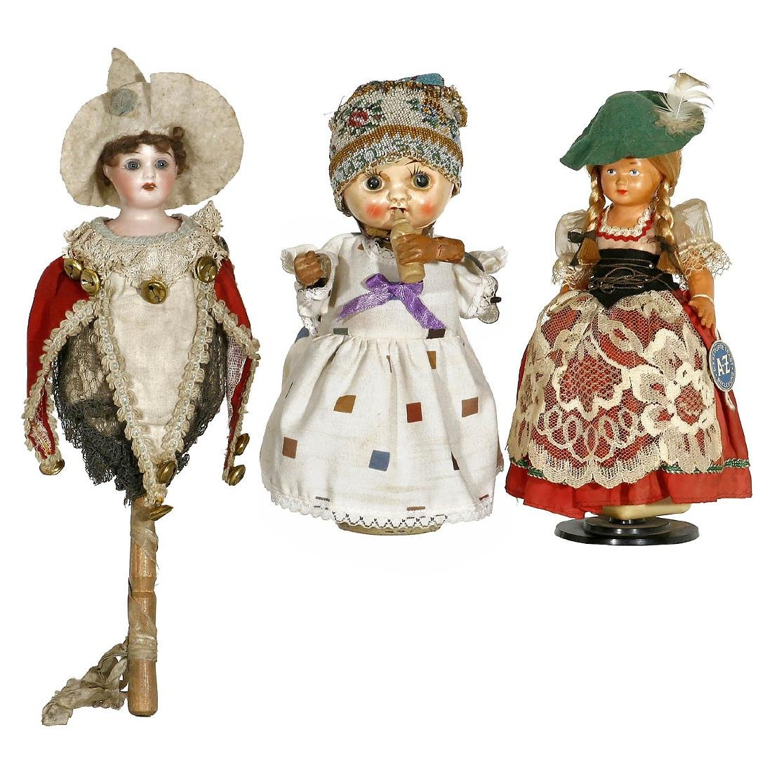 3 Musical Dolls, 19th and 20th Century