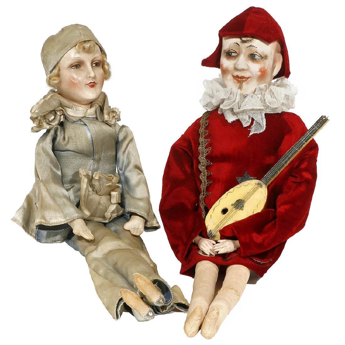 2 Musical Boudoir Dolls, c. 1930