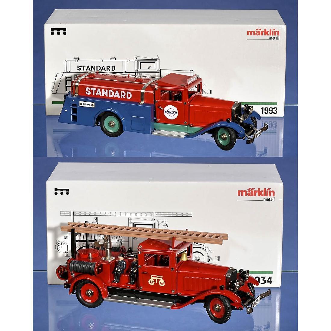 2 Märklin Construction Kit Vehicles
