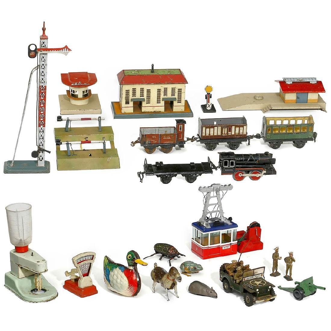 Group of Various Tin Toys, 1925 onwards