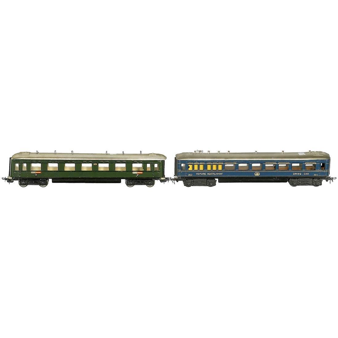 2 Märklin Passenger Cars, c. 1946