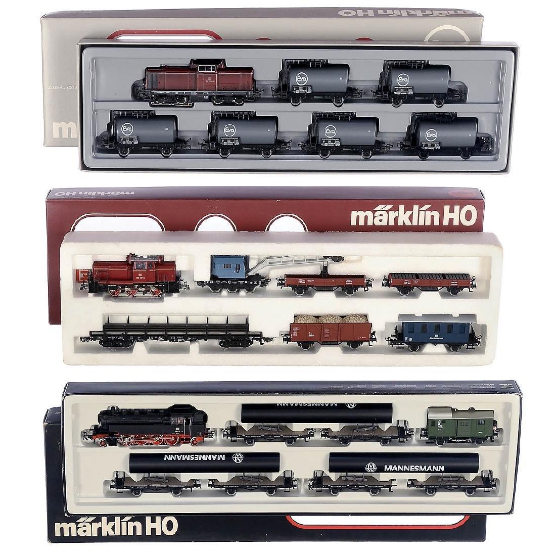 3 Märklin Train Sets, c. 1982