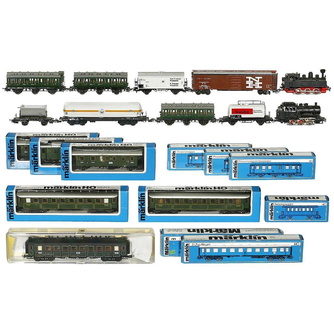 Group of Märklin Locomotives and Cars, 1950-80