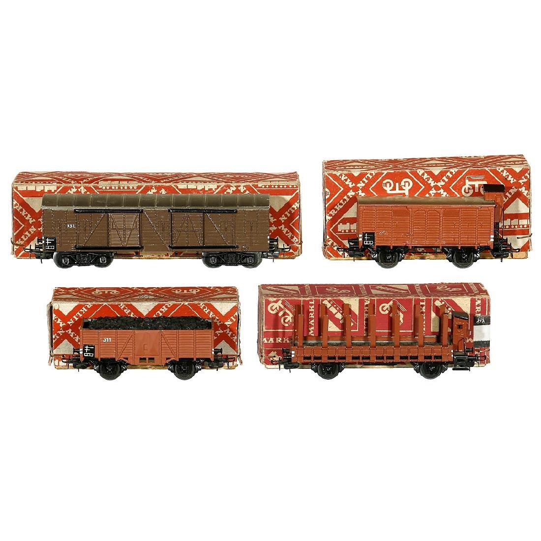 4 Märklin Freight Wagons, c. 1953