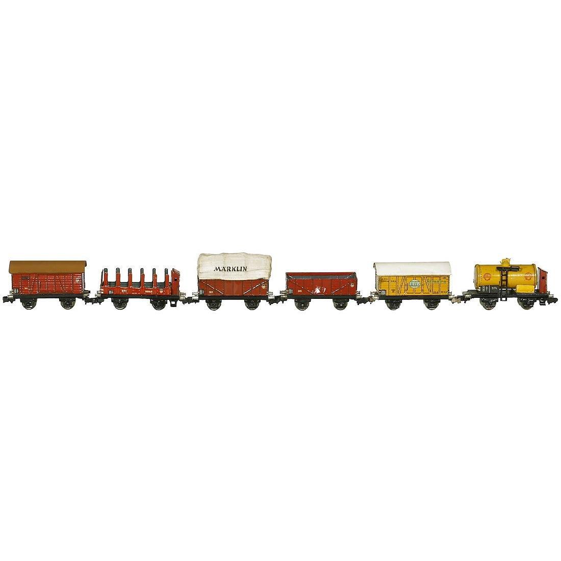 6 Märklin Freight Wagons, c. 1938