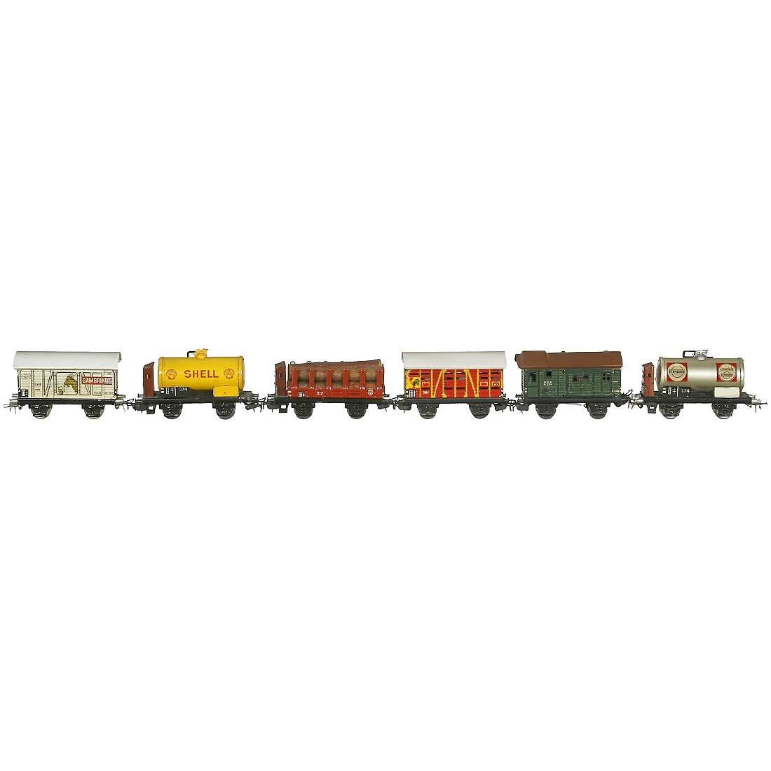 6 Märklin Freight Wagons, c. 1949