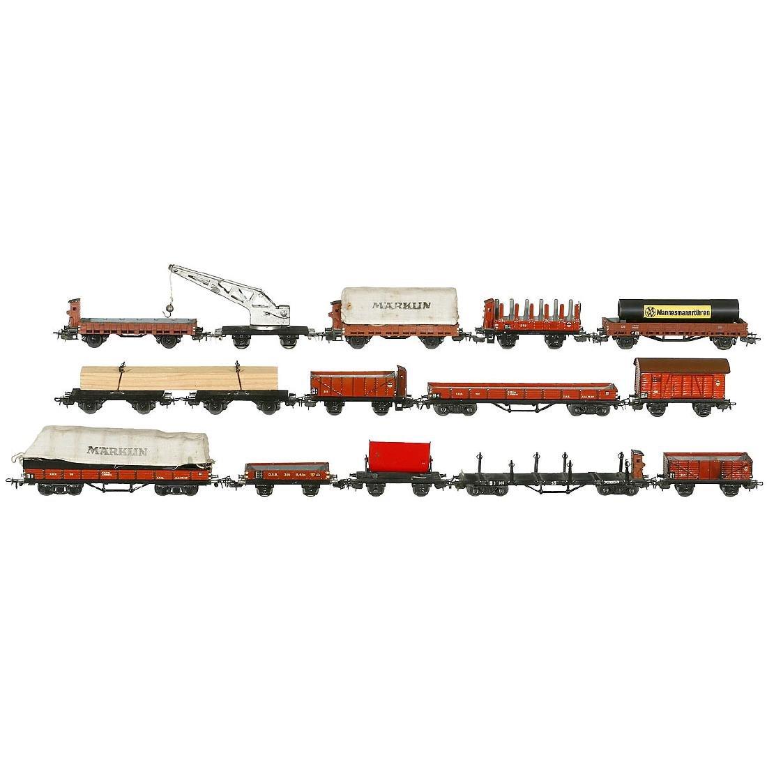 14 Märklin Freight Wagons, 1950 onwards