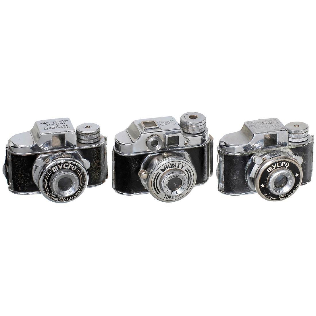 """3 """"Mycro"""" Subminiature Cameras, 1948-50"""