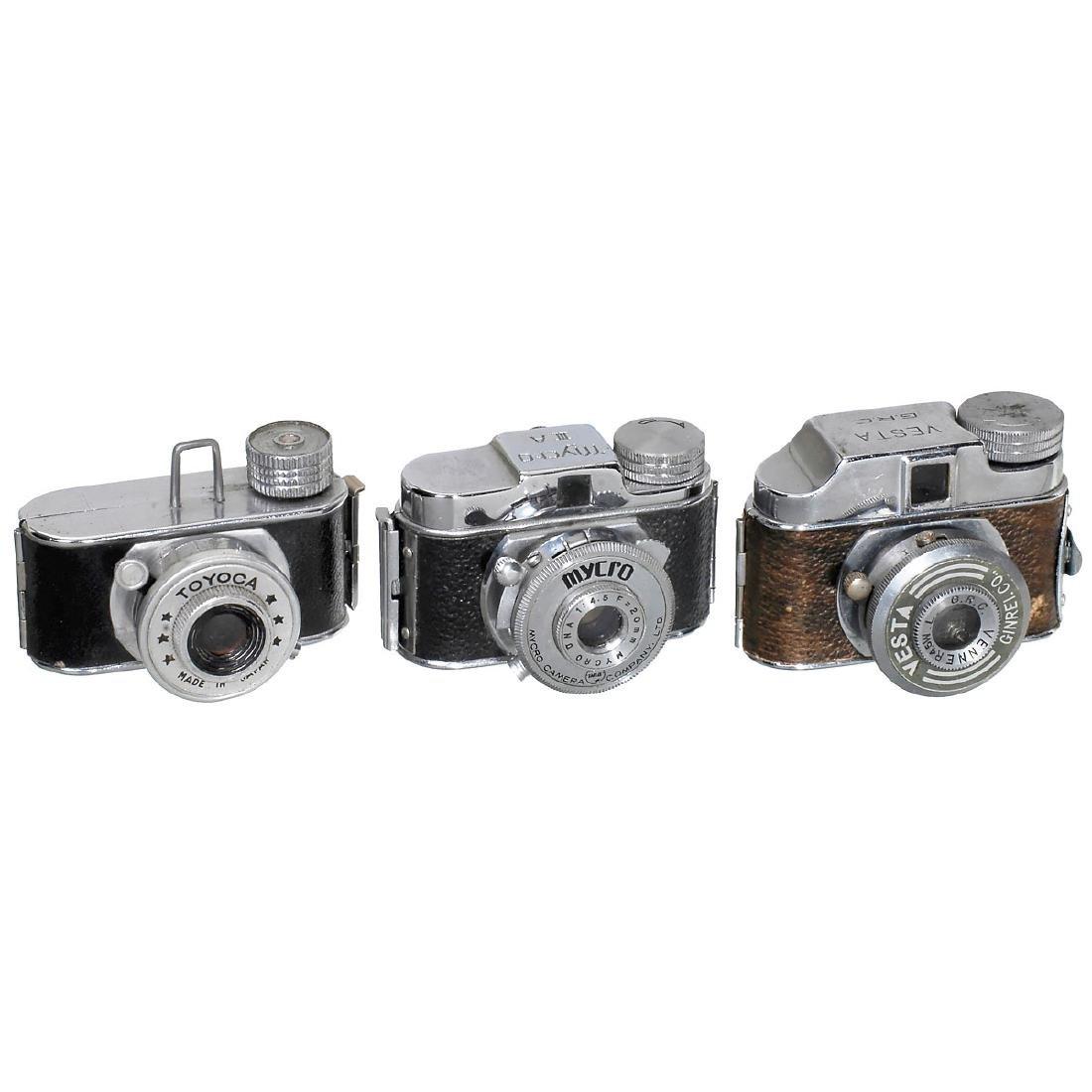 "3 Subminiature Cameras: ""Mycro IIIA"", Toyoka"" and"