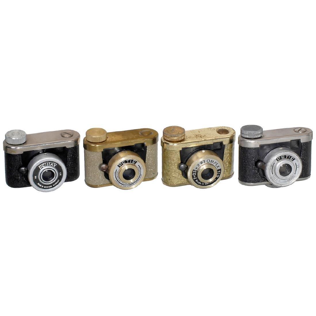 """4 """"Petie"""" Cameras by Kunik, 1955-60"""