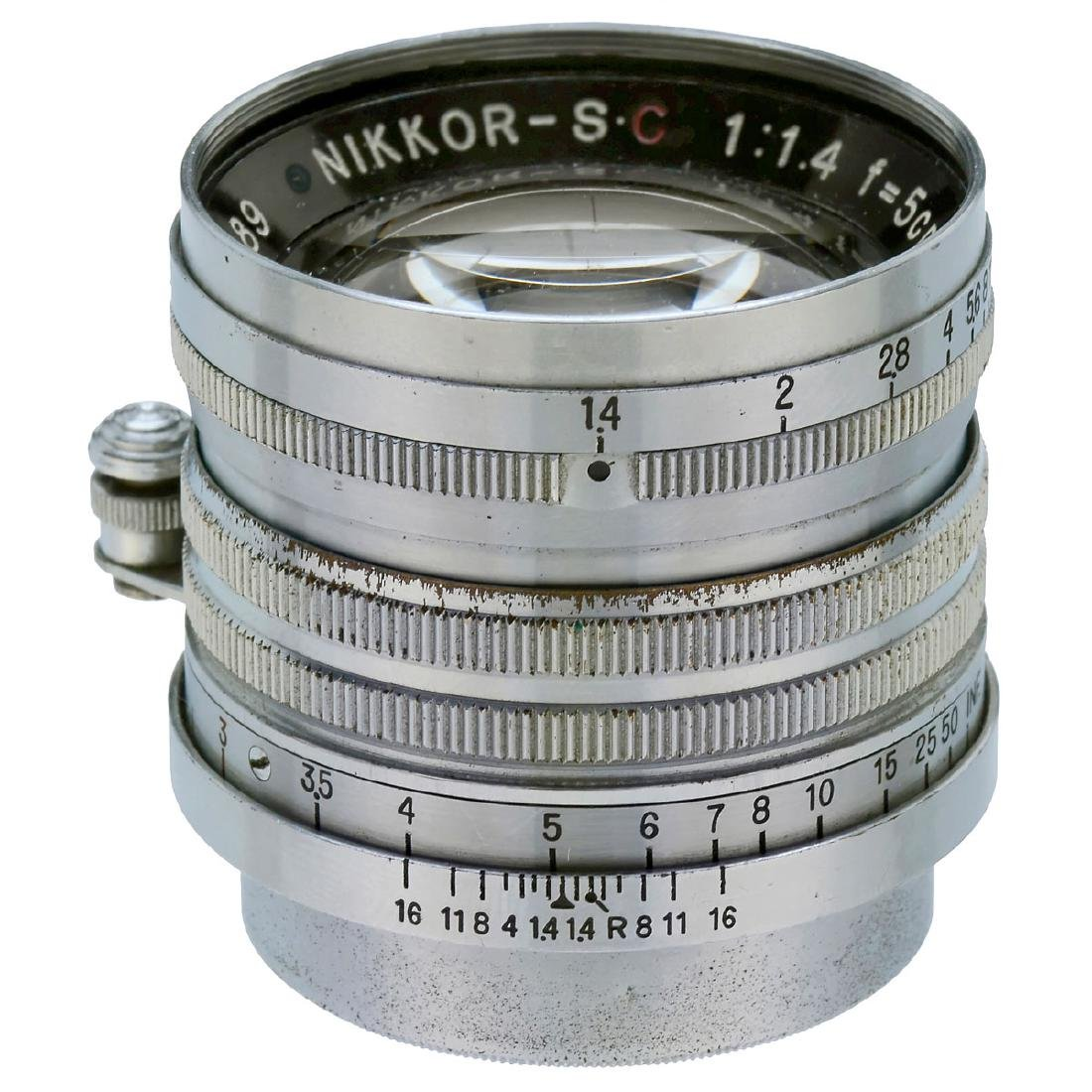 Nikkor-S.C 1,4/5 cm for Leica Screw-Mount, c. 1951