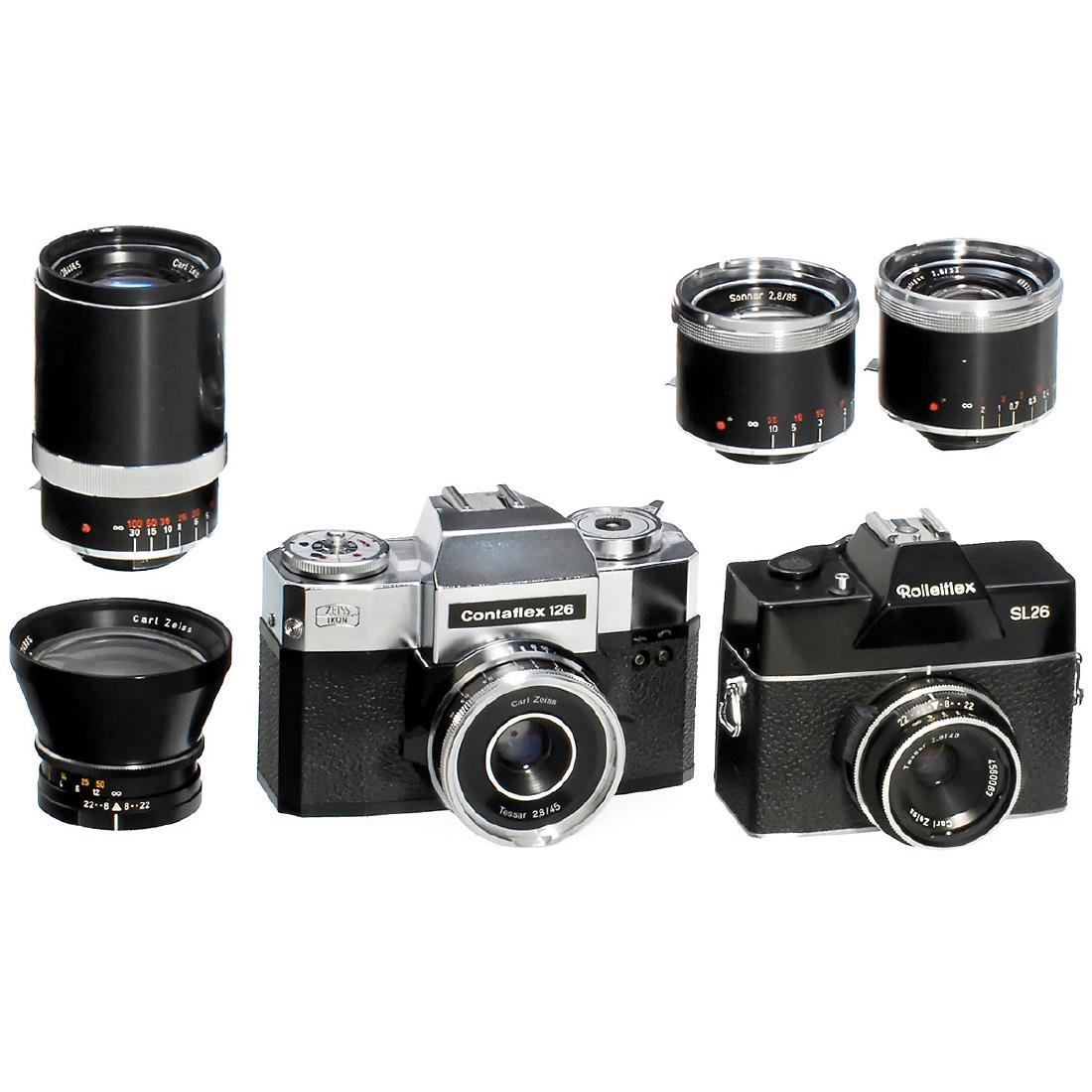 Contaflex 126 and Rolleiflex SL26
