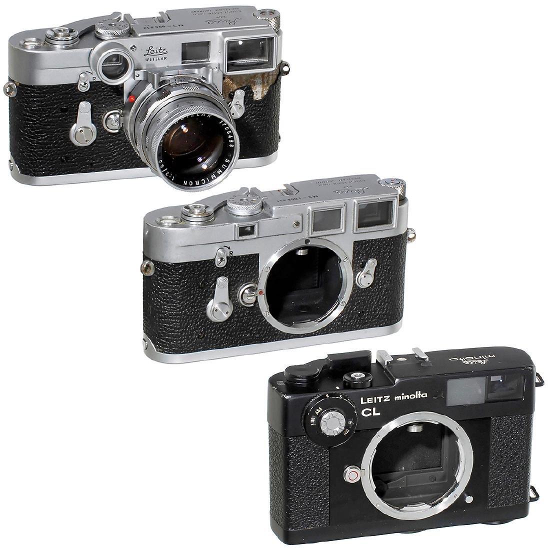 2 x Leica M3 and Leitz minolta CL