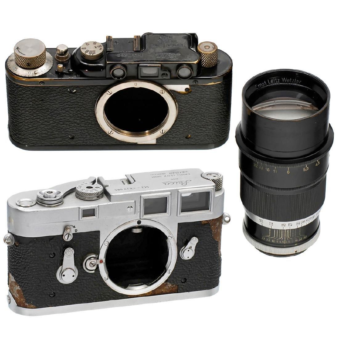 Leica M3 and Leica II (D)