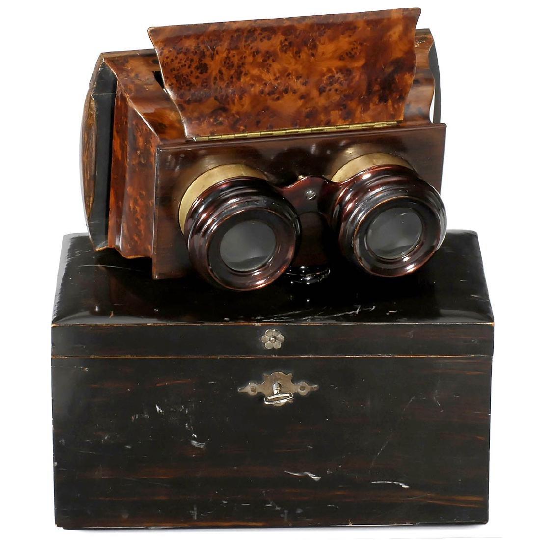 Luxury Hand Stereo Viewer 9 x 12 cm, c. 1880