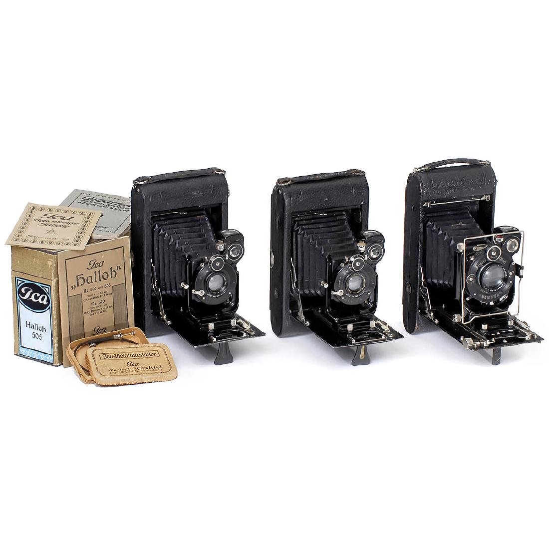 3 Rollfilm Cameras by Ica and Zeiss