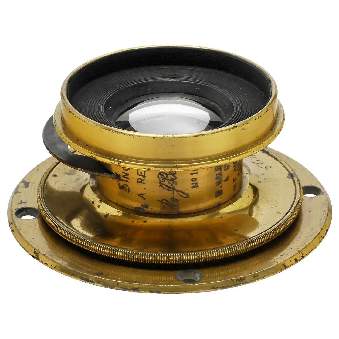 5 Brass Lenses from England - 6
