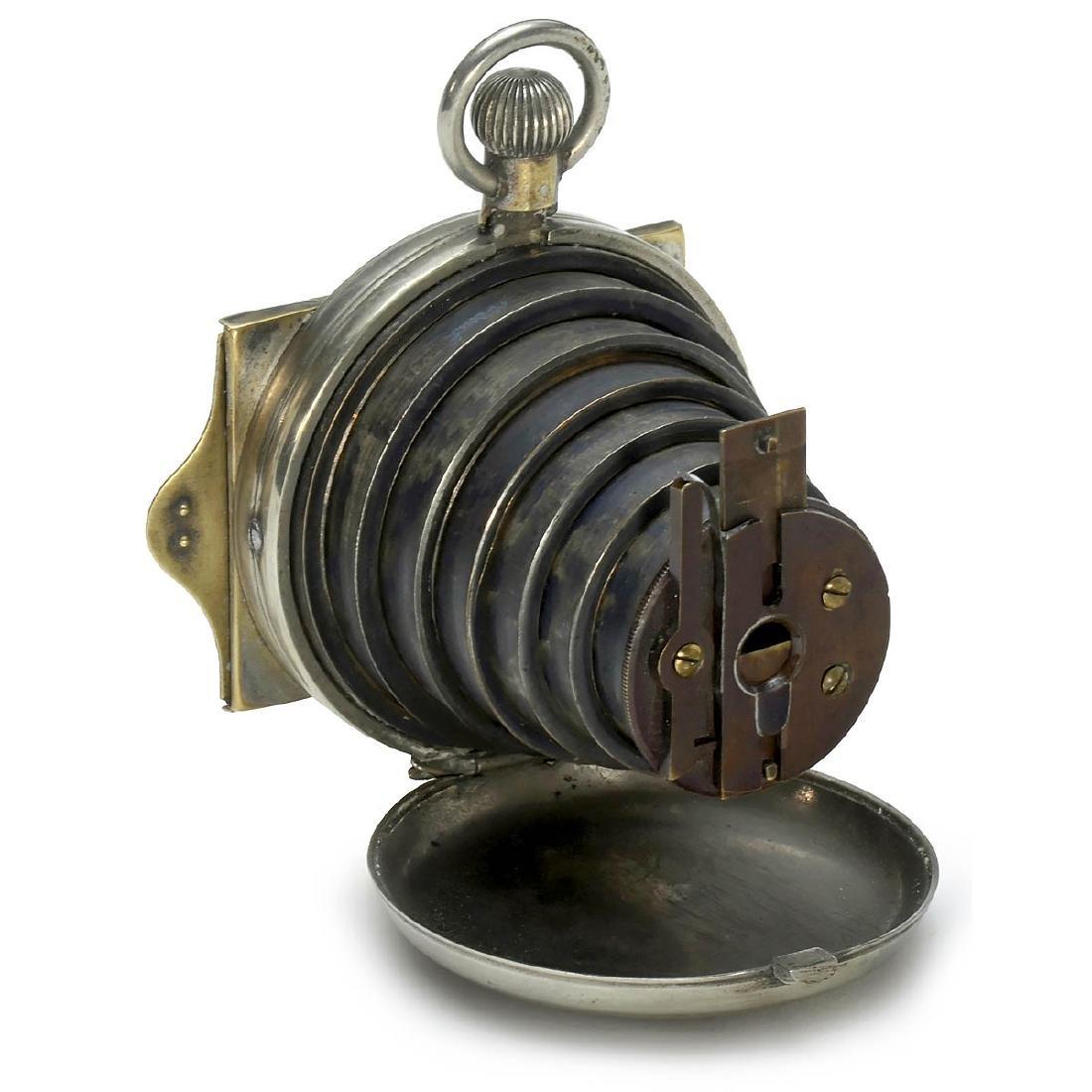 "Lancaster's Patent Watch Camera, ""Men's Model"", c. 1886"