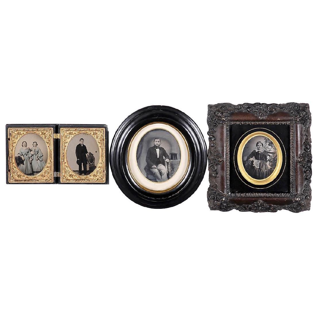 4 Ambrotypes, c. 1855-60