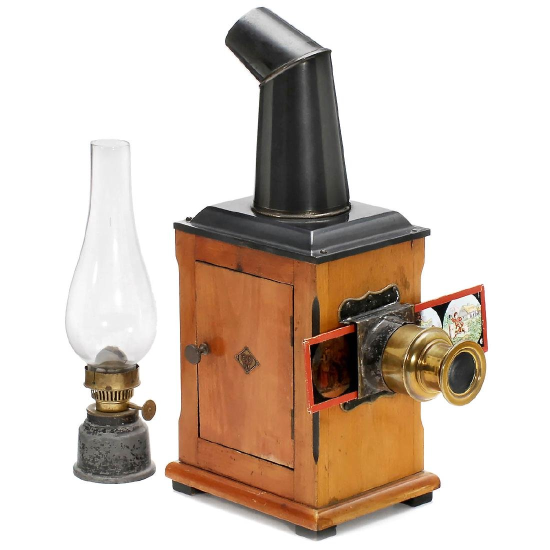 Wood Magic Lantern by Gebr. Bing, 1880-90
