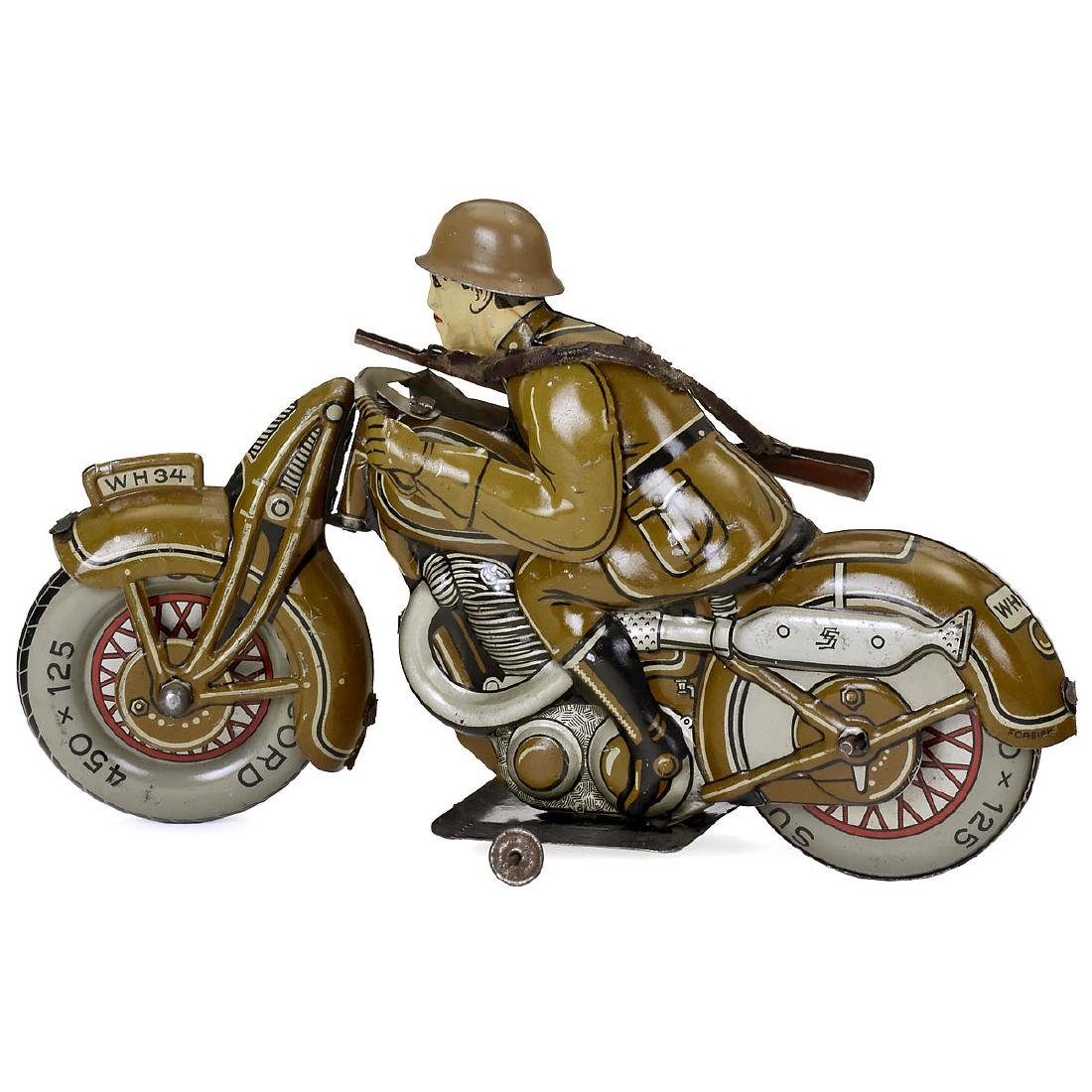 Military Motorcycle WH34 by Saalheimer & Strauss, with - 2