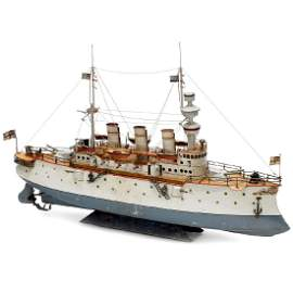 Fürst Bismarck Large Battle Ship by Bing, c. 1909