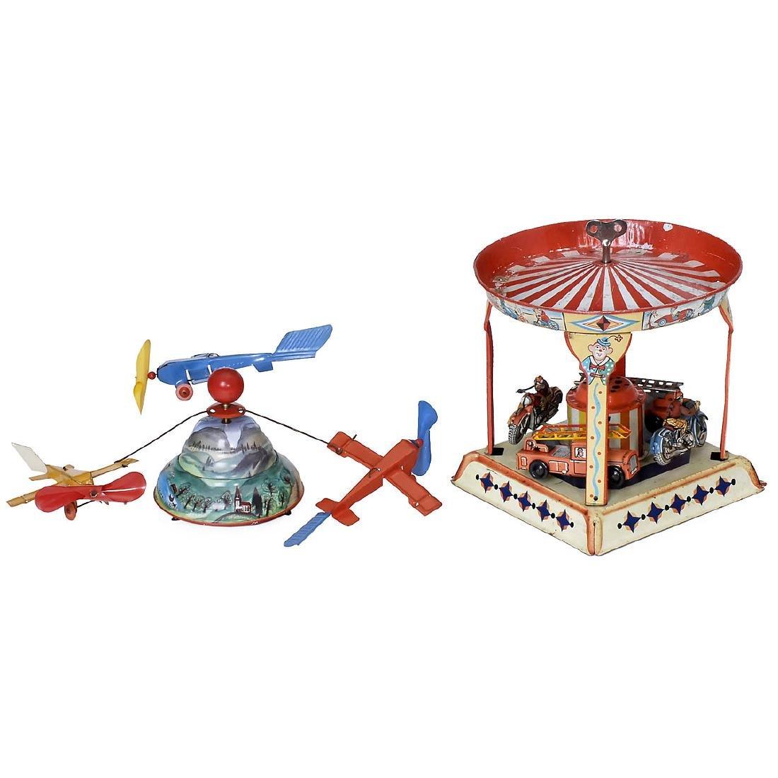 2 Tin Fairground Toys, 1950s