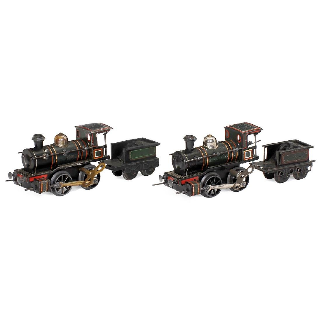 2 Steam Locomotives by Carette, c. 1915