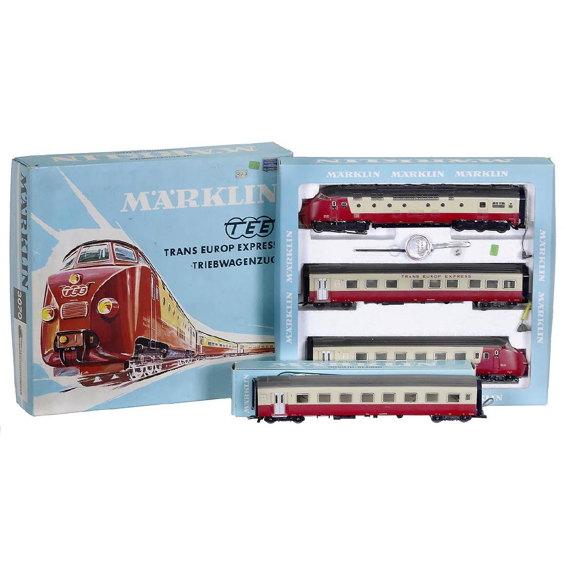Märklin TEE Train 3070 with Compartment Car 4070, c. - 2