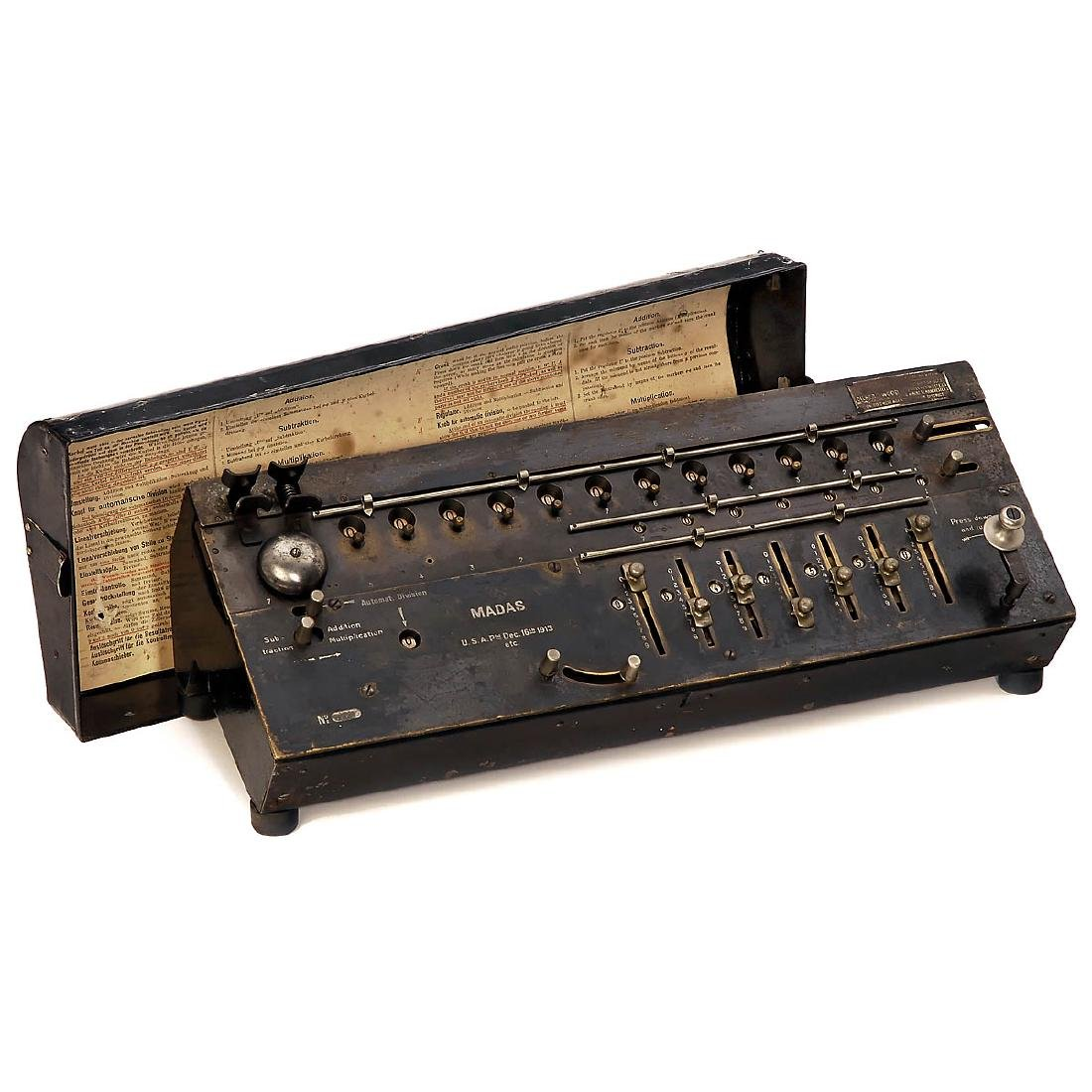 Madas Calculating Machine, 1913