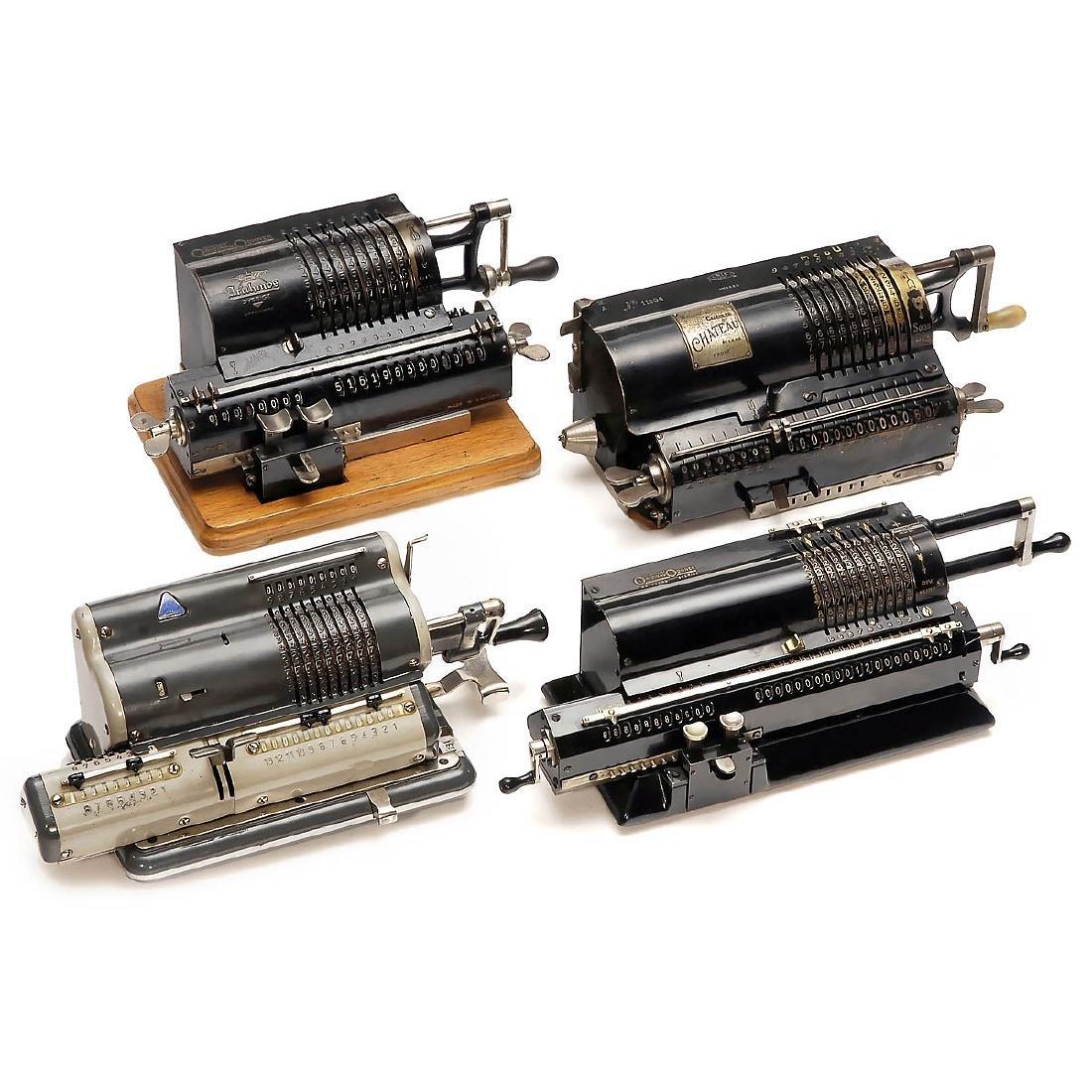4 Spoked-Wheel Calculating Machines