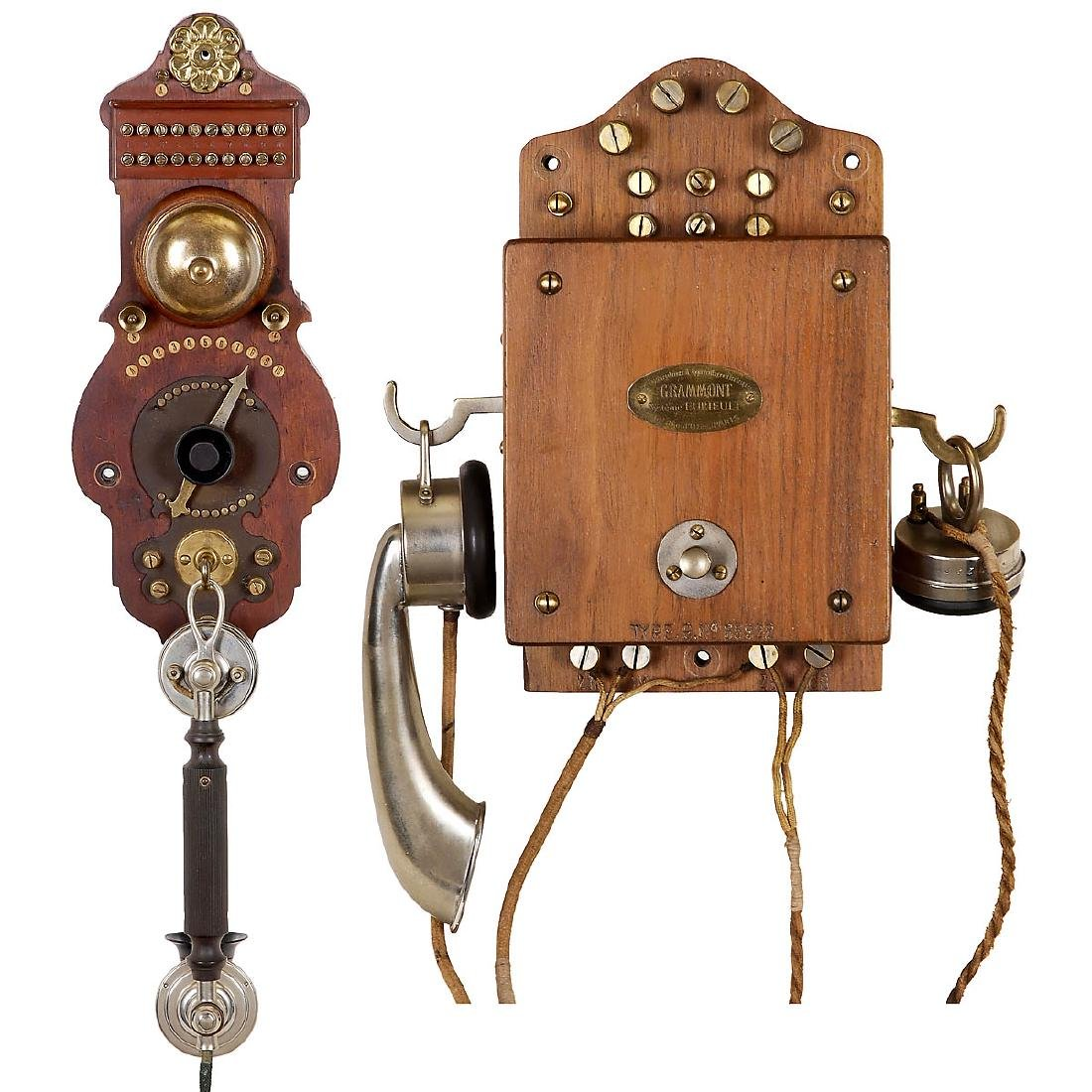 2 Early Wall Telephones, c. 1900-1920