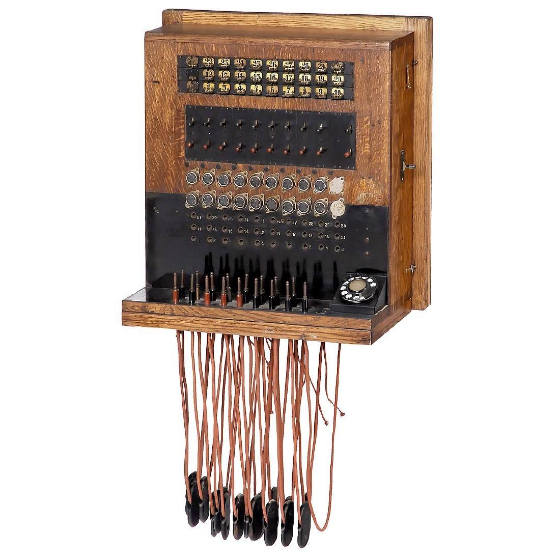 Belgian ATEA Telephone Switchboard, c. 1930