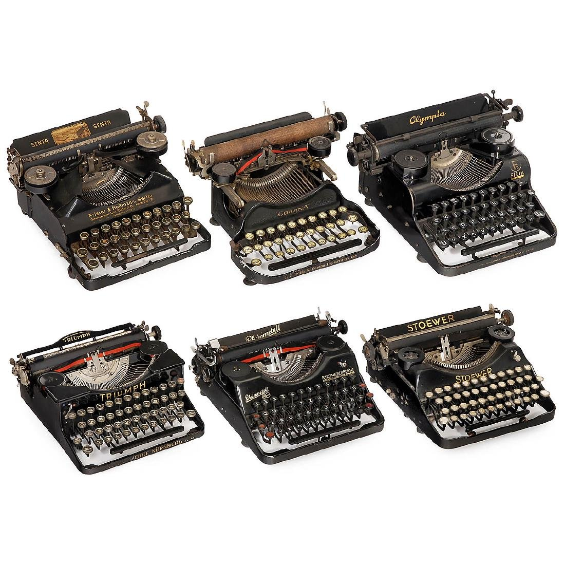 6 Small Mechanical Typewriters