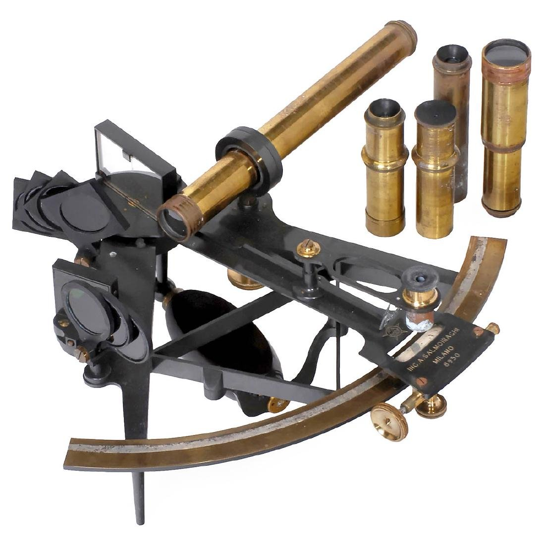 """Italian Sextant by """"Salmoiraghi"""", c. 1900"""