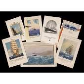 7 Cruise Liner Menu Cards, 1940s