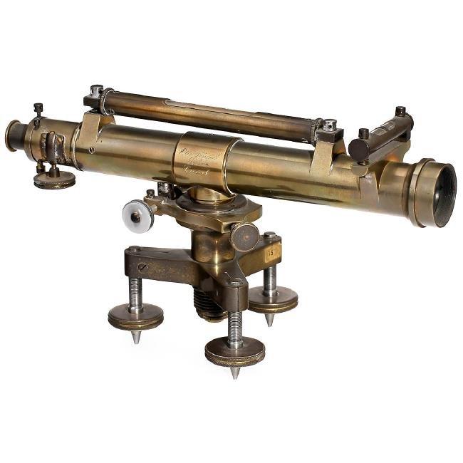 Antique Brass Double Barrel Teleskop mit schwerem Stativ