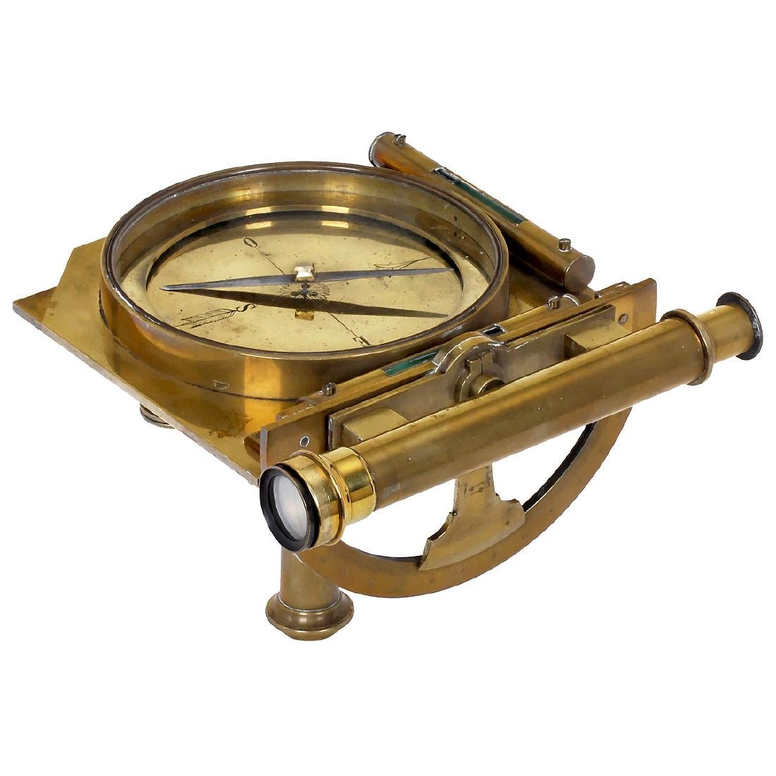 Large Compass with Protractor, c. 1850