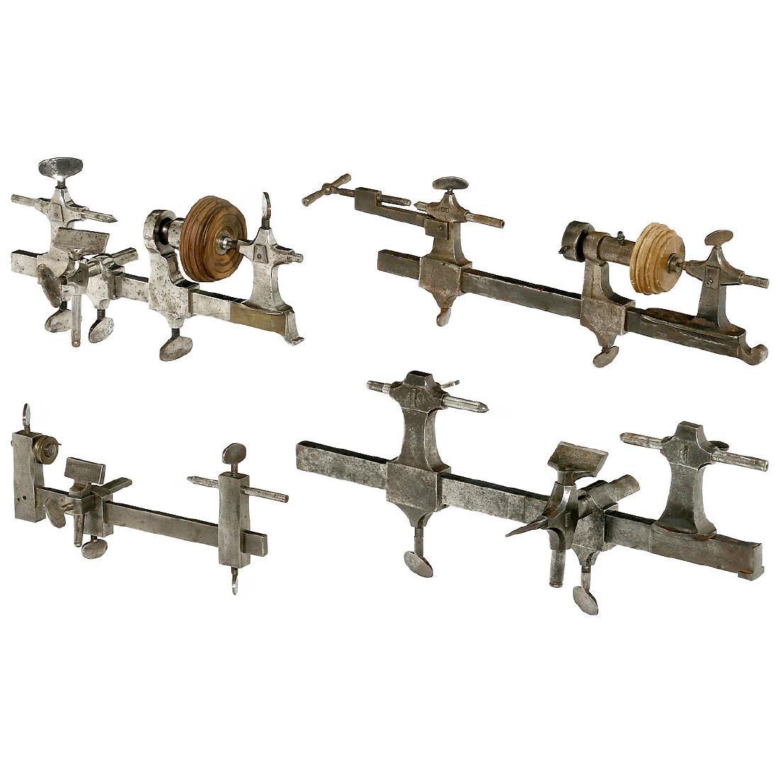 4 Clockmaker's Lathes, c. 1900