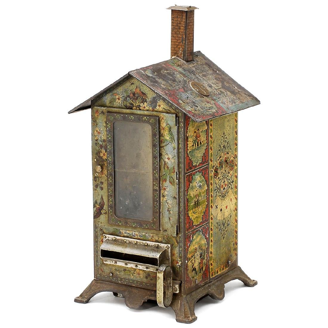 Playing Card Vending Machine and Cards Press, c. 1900