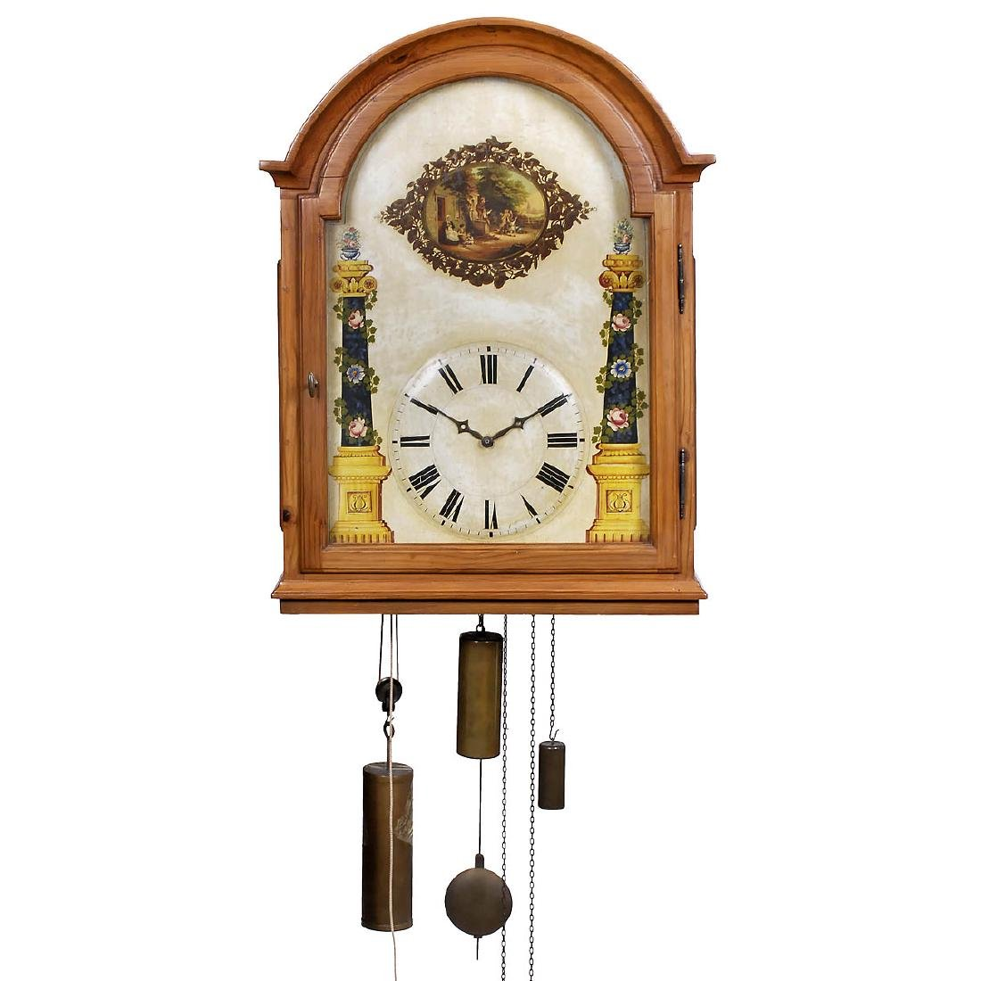 Black Forest Flute Clock, c. 1860