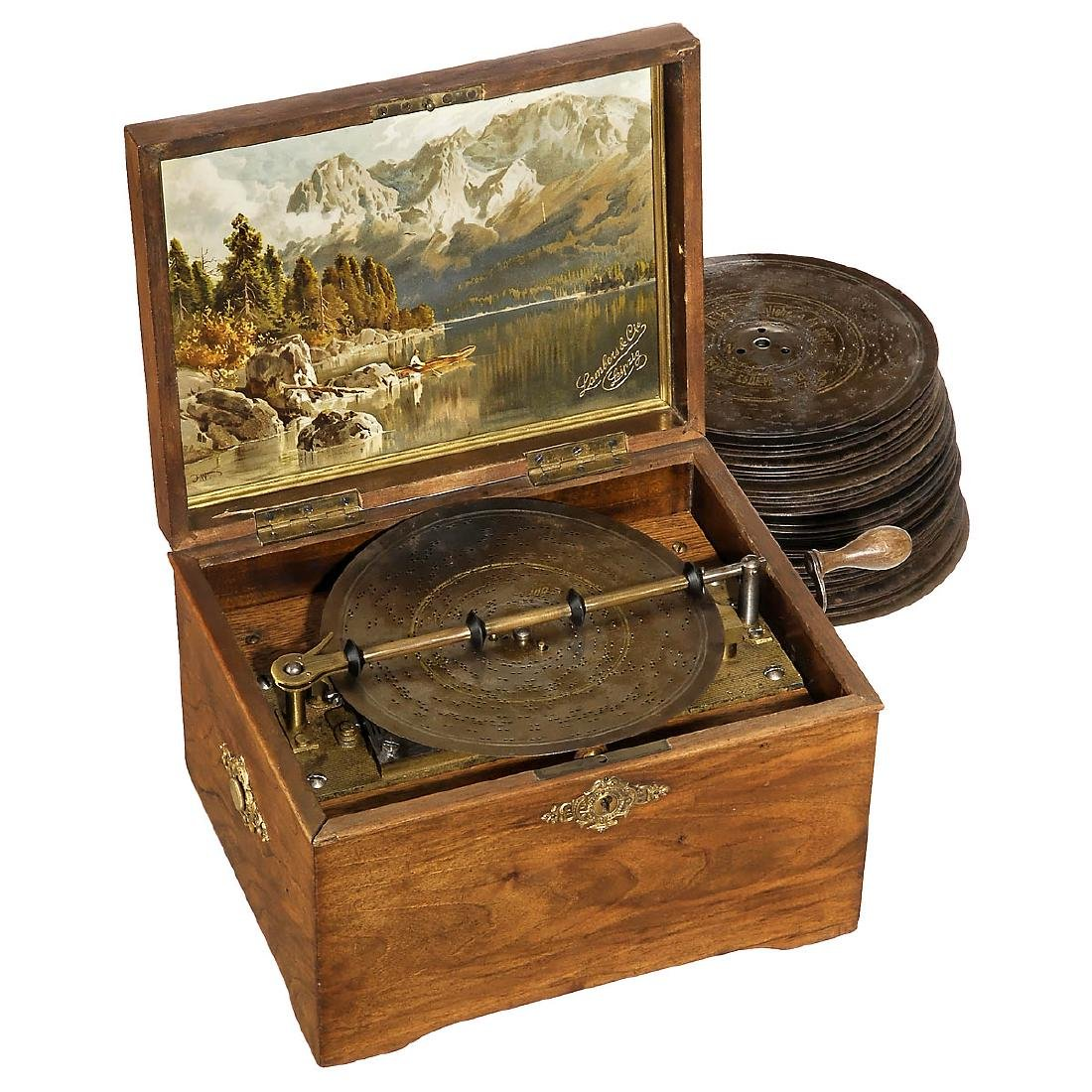 Symphonion 7 3/8-inch Disc Musical Box, c. 1898