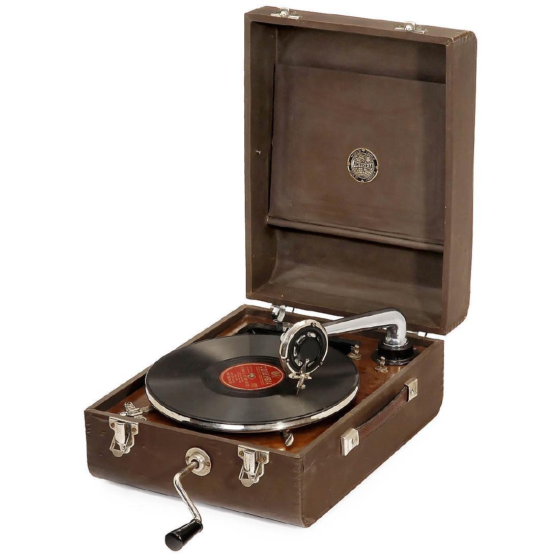 Antoria English Portable Gramophone, c. 1930