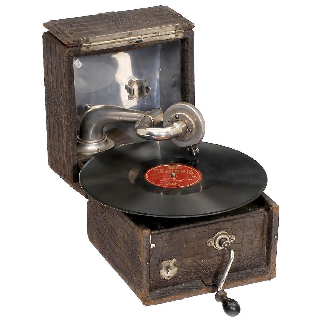 English Portable Gramophone of Unusual Construction, c.