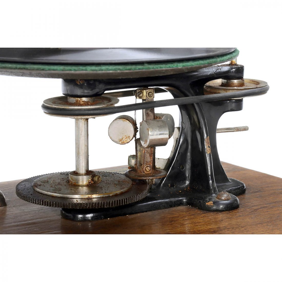 Emile Berliner-Style Hand-Cranked Gramophone - 2
