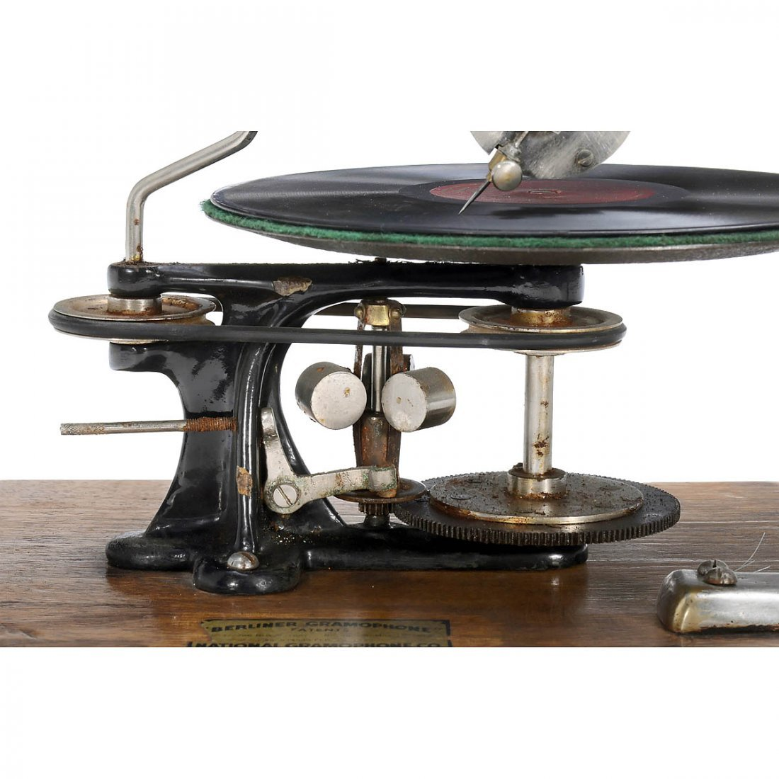 Emile Berliner-Style Hand-Cranked Gramophone - 3